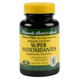 NATURES PLUS SUPER ANTIOXIDANTES 60COMPRIMIDOS.