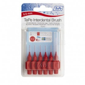CEPILLO INTERDENTAL 0,5 MM Nº 2 TEPE 6 UNIDADES.