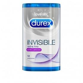 Durex Invisible Extra Lubricado 12ud | Farmacia Tuset