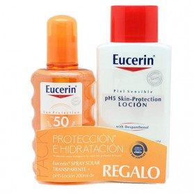Eucerin Sun Spray Transparent FPS 50 + Loción PH5 Protection REGALO | Farmacia Tuset