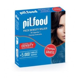 PILFOOD PACK DENSITY MUJER 90 CAPSULAS + CHAMPU 200ML