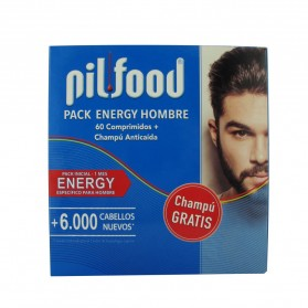 PILFOOD PACK ENERGY HOMBRE 60CAPS + CHAMPU 200ML
