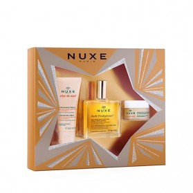 NUXE COFRE BEST SELLERS CREMA MANOS + HUILE PRODIGIEUSE + BÁLSAMO LABIOS