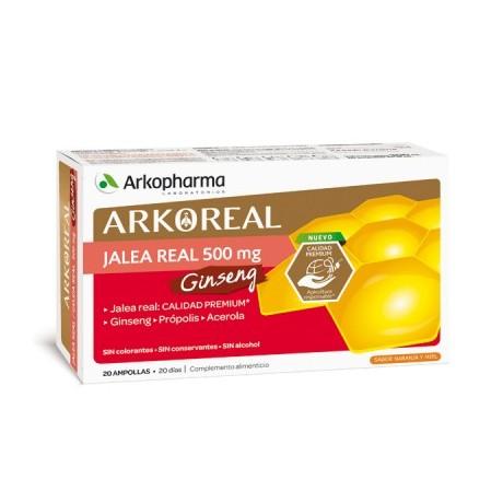 Arkopharma Arkoreal Jalea Real + Ginseng (20 amp) | Farmacia Tuset