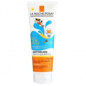 La Roche-Posay Anthelios Pediátrico Gel Wet Skin FPS 50 (250 ml) | Farmacia Tuset