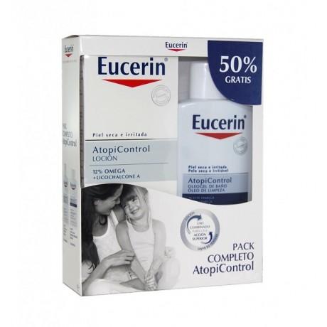 Eucerin Pack AtopiControl Loción + Oleogel de baño (400 ml) | Farmacia Tuset