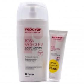 Repavar Regeneradora Rosa Mosqueta Loción Corporal (500 ml) + Crema Regeneradora 50ml  DE REGALO | Farmacia Tuset