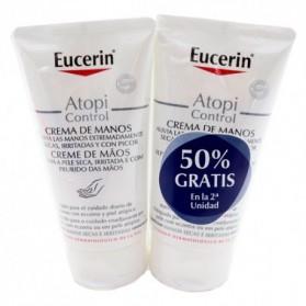 Eucerin Atopicontrol Crema de Manos Duplo (2x75ml) | Farmacia Tuset