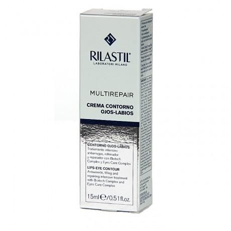 Rilastil Multirepair Crema Contorno Ojos y Labios (15 ml) | Farmacia Tuset