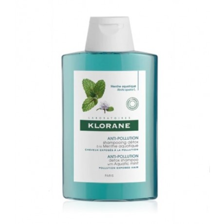 Klorane Champú Detoxificante a la Menta Acuática (200 ml)   Farmacia Tuset