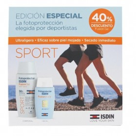 Isdin Fotoprotector Pack Sport (Fusion Gel + Fusion Water) | Farmacia Tuset
