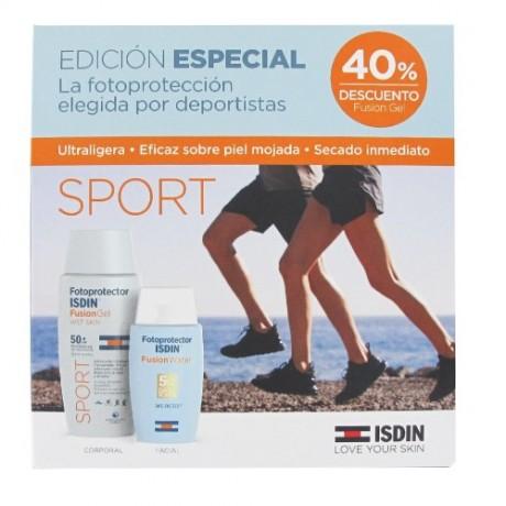 Isdin Fotoprotector Pack Sport (Fusion Gel + Fusion Water) | Farmacia Tuset