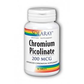 SOLARAY CHROMIUM PICOLINATE 200 (50 COMPRIMIDOS)