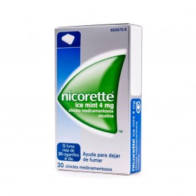 Nicorette Ice Mint 4 mg (30 chicles) | Farmacia Tuset
