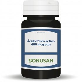 Bonusan Ácido Fólico Activo 400mcg Plus (90 cápsulas)   Farmacia Tuset