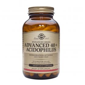Solgar 40+ Acidophilus Avanzado (No lácteo) (60 cápsulas) | Farmacia Tuset