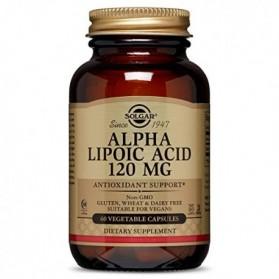 Solgar Ácido Alfa Lipoico 120 mg (60 cápsulas) | Farmacia Tuset