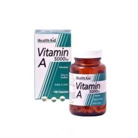 HEALTH AID VITAMINA A 5000UI CON VIT D 100 CAPS