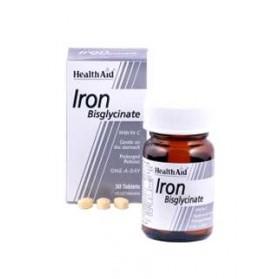 HEALTH AID IRON BISGLYCINATE 30MG 90 COMP