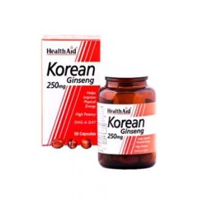 HEALTH AID GINSENG COREANO(RAIZ) 250 MG  50 CAPS