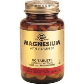 SOLGAR MAGNESIUM +VIT B6 100 COMPRIMIDOS