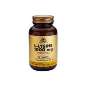 SOLGAR L-LISINA 1000MG 50 COMPRIMIDOS
