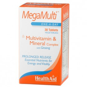 HEALTH AID MEGAMULTI GINSENG 30 COMPRIMIDOS