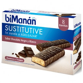 BIMANAN SUSTITUTIVE BARRITA CHOCOLATE N/BL 8UDS