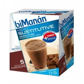 BIMANAN SUSTITUTIVE BATIDO CHOCOLATE 50 G X 5 UD