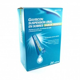 GAVISCON 24 SOBRES SUSPENSION ORAL MENTA 10 ML