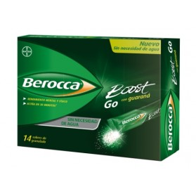 BEROCCA BOOST GO CON GUARANÁ 14 SOBRES GRANULADO